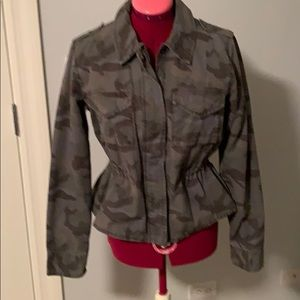 American Eagle Camouflage Cinched Waist Jacket